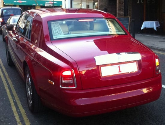 """The number plate """"1"""" photographed on a Rolls-Royce Phantom in London's Brompton Cross in April 2013"""
