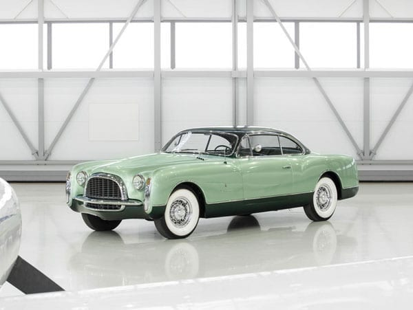 A landmark Chrysler - 1953 Chrysler Special coupé by Ghia. For sale on 10th December, RM Auctions, Driven by Disruption sale, guide £460,000 to £591,000 ($700,000 to $900,000, €651,000 to €837,000).