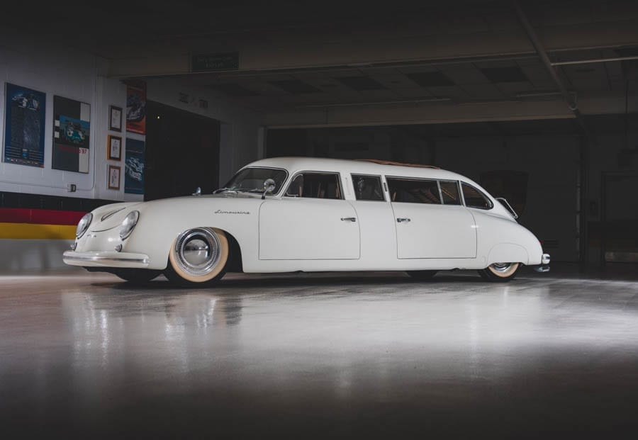 Stretching a Porsche – 1953 Porsche 356 limousine by Don Boeke of Egyptian Custom Body to be auctioned by RM Sotheby's as part of their Taj Ma Garaj Collection sale on 27th September 2019 in Dayton, Ohio; it was converted into a limousine by its collector owner John Dixon for his daughter's wedding. Offered without reserve and a guide of £120,000 to £200,000 ($150,000 to $250,000, €134,000 to €223,000 or درهم551,000 to درهم918,000). Amazingly, it has just 112 miles on its clock.