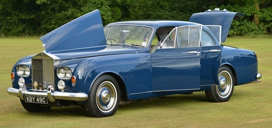 1965 Rolls Royce Silver Cloud III Flying Spur with doors and bonnet open