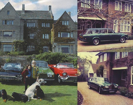 The 1980 Rolls-Royce Silver Shadow shooting brake pictured at John Entwistle's Cotswold's estate, Quarwood, and elsewhere in its original Harrods green colour