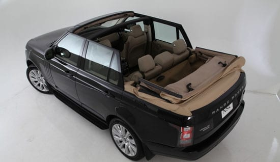 2013 Range Rover convertible by Newport Convertible Engineering with roof down