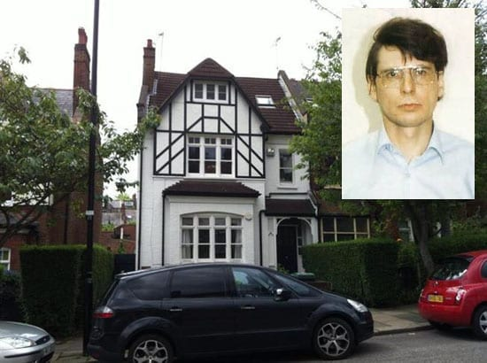 23D Cranley Gardens Muswell Hill London N10 with Dennis Nilson inset