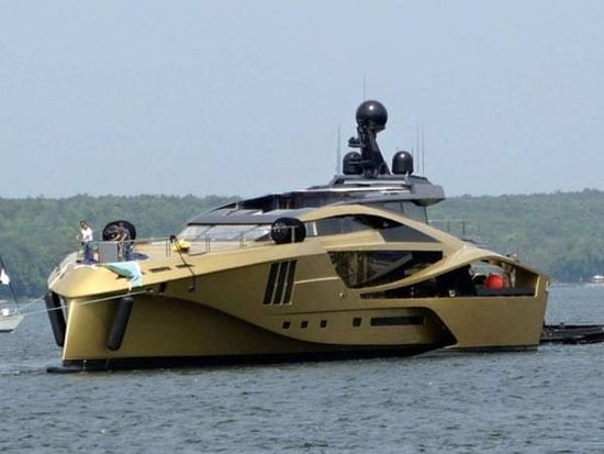 This 48m Palmer Johnson yacht is likely part of the same owner's collection of toys