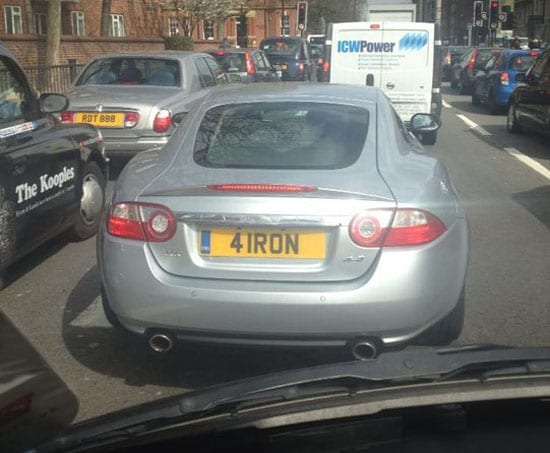 Tiger Woods' new ride? (spotted by Billy Brooks)