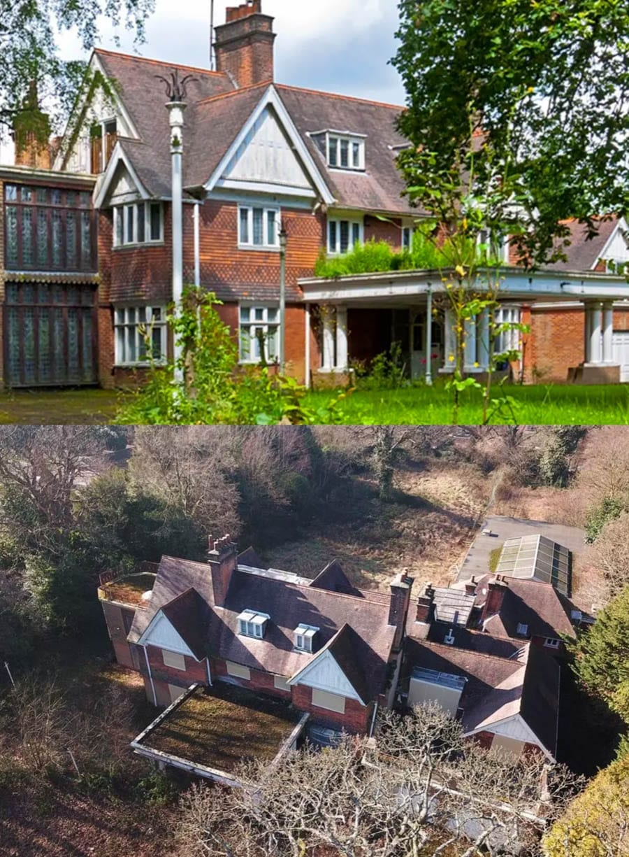 Boarded Up On The Bishops Avenue – Kenmore House or Al-Murataza, 58 The Bishops Avenue, London, N2 0BE – Mansion on The Bishops Avenue in Hampstead goes on sale for £15 million; it isn't quite what you'd expect for such a price – For sale for £15 million ($19.7 million, €17.4 million or درهم72.4 million) through Aston Chase.