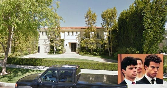 722 North Elm Drive Beverly Hills CA 90210 today with Erik and Joseph Menendez inset