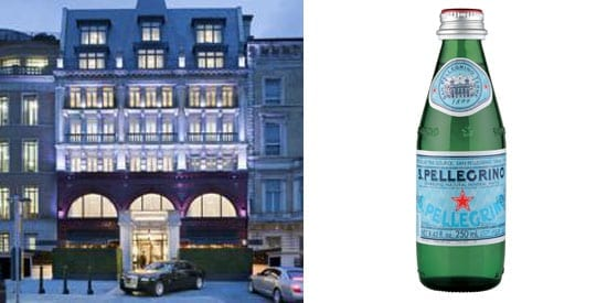 A bill for three bottles of San Pellegrino came to an astonishing £75 at The Wellesley in London
