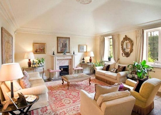 A formal drawing room is one of three reception rooms