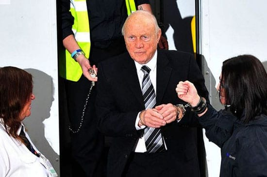 Picture of the Week: A handcuffed Stuart Hall arrives at Preston Magistrates Court today