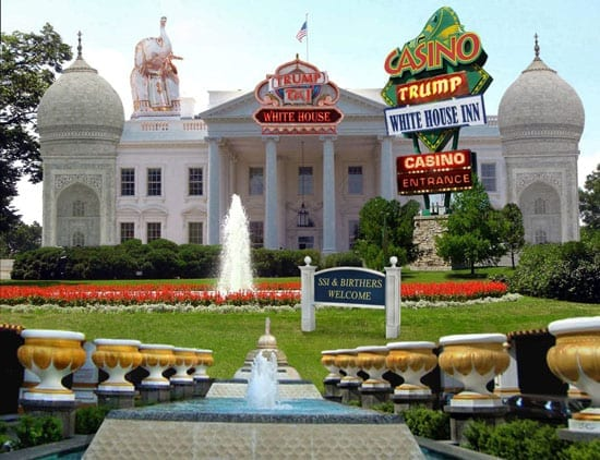 A spoof mockup of how the Trump White House might look