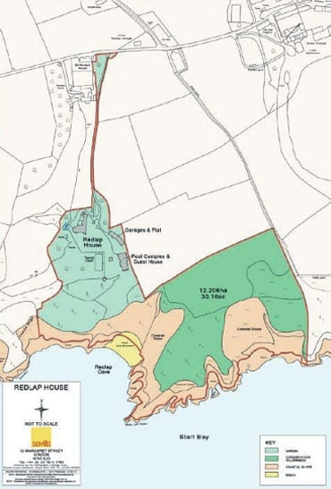 A plan of the 30 acre site