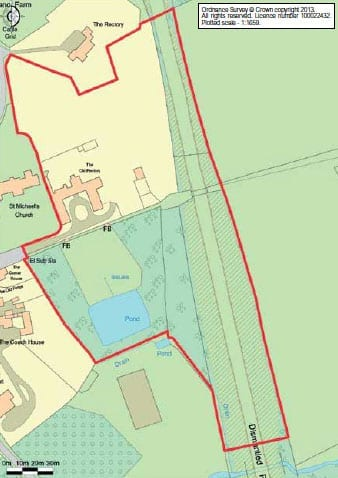 A plan of the 6.4 acre site