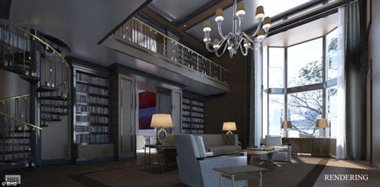 A rendering of the proposed library