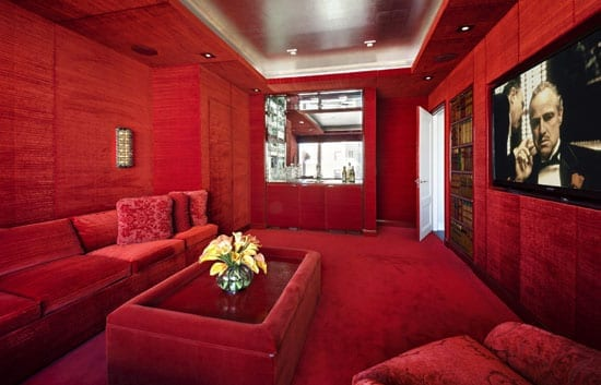A room for someone who loves red