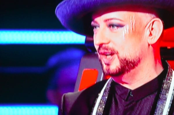 Boy George scratched