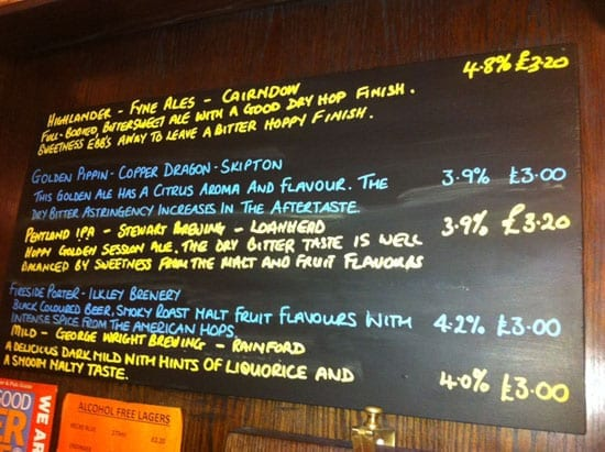 A selection of the beers on offer