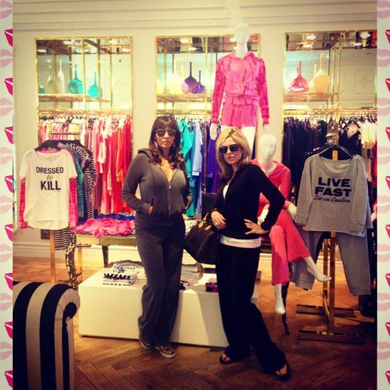 Alexandra Naylor and Claire Rubinstein model Juicy Couture