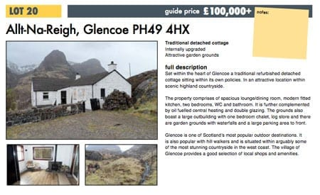 Ross Harper's auction catalogue entry neglects to mention Allt-Na-Reigh's sordid past