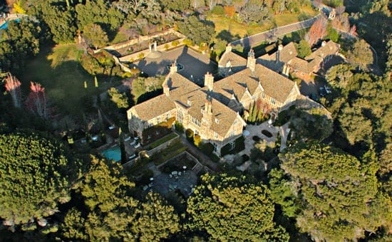 An aerial shot of The Tobin Clark Estate