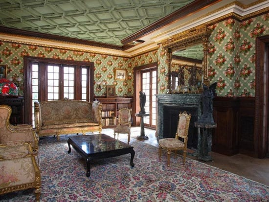 One of many opulent reception rooms