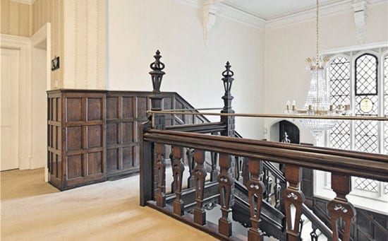 An original Jacobean staircase is impressive still however