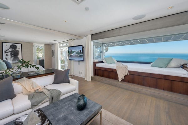 And a seating area that makes the most of the ocean views