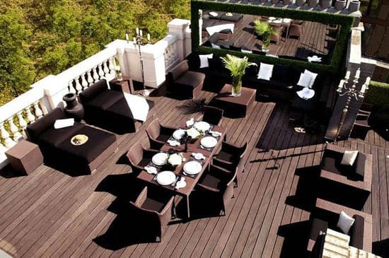 Another feature is a large roof terrace