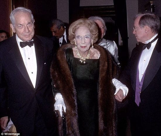 Anthony Dryden Marshall with his late mother Brooke Astor at a black tie event in happier times
