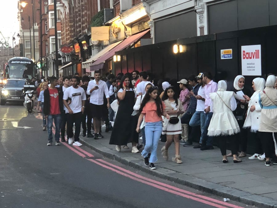 The Arab Arrival – As Knightsbridge's Brompton Road is invaded by Arabs, The Steeple Times finds that there is both good and bad in their number.