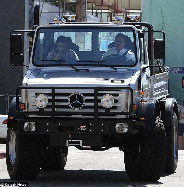 Arnold Schwarzenegger was regularly spotted driving his Mercedes-Benz Unimog