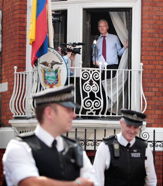 In August, Julian Assange addressed his supporters from a balcony of the Ecuadorian Embassy in Knightsbridge. Some cheered. Others did not.