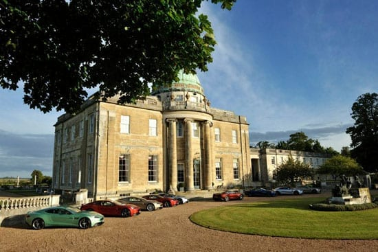 Aston Martin launched their Vanquish model at Tyringham Hall in October 2012