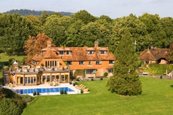 "Prior to that, the couple lived at Barbins Grange, Chiddingfold Road, Dunsfold, Godalming Surrey, GU8 4PB from 1999. It was sold to a ""self-exiled"" Russian tycoon named Evgeny Chichvarkin in 2009."