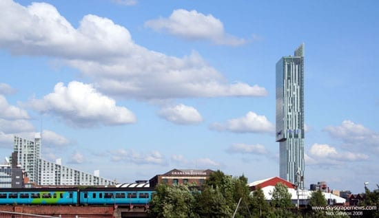 The Beetham Tower dominates central Manchester