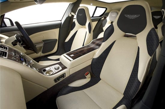 The luxurious interior of the four seat shooting brake
