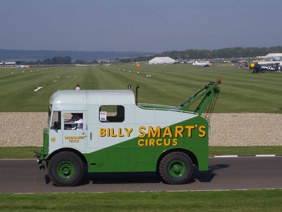 One Billy Smart's New World Circus' recovery vehicles