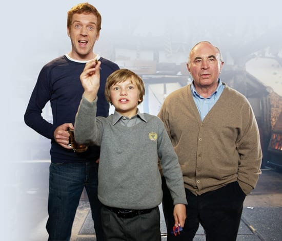 Bob Hoskins with Damian Lewis and Perry Eggleton in Ellen Perry's 2011 film 'Will'