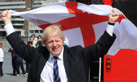 Boris Johnson has urged the public to reclaim the flag of St George from the BNP