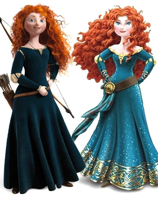 Merida's had a makeover: compare the before and the after
