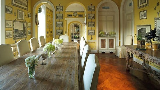 A breakfast room within the mansion is ideal for more casual occasions