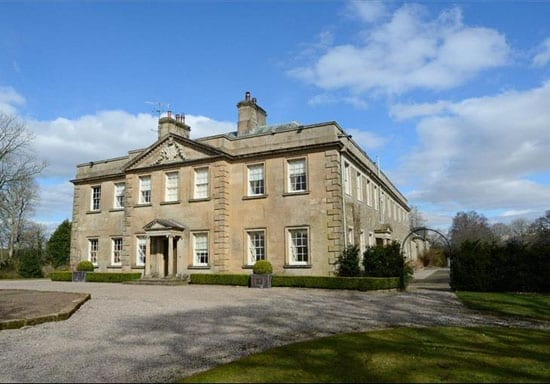 The front elevation of the Grade I listed Burrow Hall