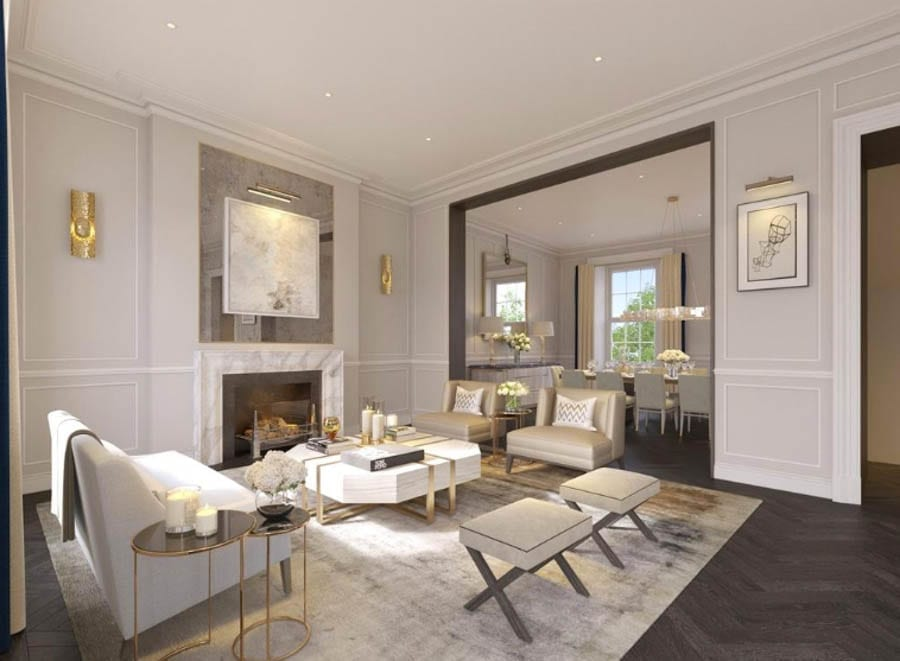 A Bastard of a Basement – 31 Brompton Square, Knightsbridge, London, SW3 2AE, United Kingdom – For sale through Savills for £25 million ($33.9 million, €28.4 million or درهم125 million) – Formerly owned by now jailed fraudster Achilleas Kallakis and also by Jonathan Hart, Lord Tanlow, the Hon. Michael Astor, Dora and Mary de Beer and Henry Luttrell.