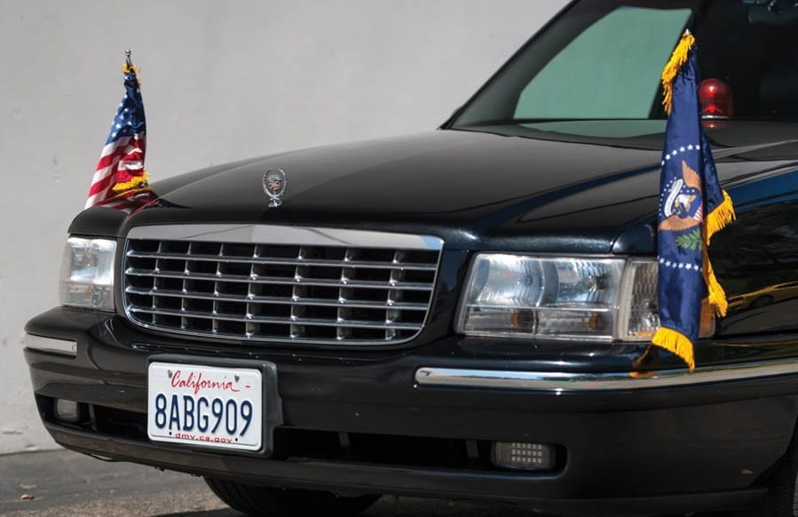 A Low-Cost Limo – Replica Clinton Cadillac One to be auctioned – Perfect car for Hillary Clinton to be auctioned for just £7,800 in Indiana; replica Cadillac One truly is worthy of the name 'The Beast' – 1999 Cadillac Deville Presidential-style state limousine by Superior Coach to be sold for £7,800 to £11,700 ($10,000 to $15,000, €8,800 to €13,100 or درهم36,700 to درهم55,100) at their 30th August to the 2nd September auction by RM Sotheby's at their Auburn Fall sale.