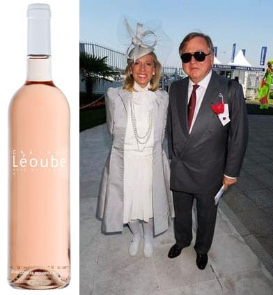 2013 vintage rosé from Chateau Léoube; Lord and Lady Bamford