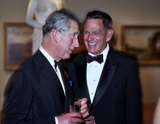 Christian de Guigné pictured with HRH The Prince of Wales in San Francisco at a dinner at at the M.H. de Young Memorial Museum in Golden Gate Park in San Francisco in April 2006