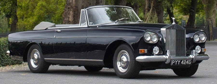 Farrell Rolls – 1966 Rolls-Royce Silver Cloud III drophead coupé – To be sold by Bonhams at their Collector's Motor Cars and Automobilia sale on 6th December 2017 with an estimate of £300,000 to £350,000 ($397,000 to $463,000, €338,000 to €395,000 or درهم1.5 million to درهم1.7 million) – Used by Colin Farrell in 2010 film 'London Boulevard' also starring Keira Knightley and Ray Winstone.