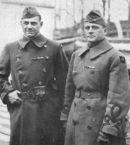 Colonel William Hayward with Major Arthur W. Little