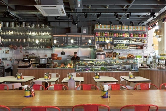 The colourful style of Comptoir Libanais in South Kensington reflects the restaurant's friendly nature