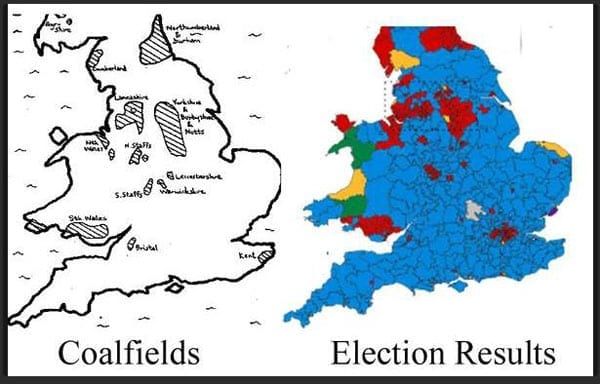 The coal lady - The new political map of Britain correlates with the locations of the country's coalfields